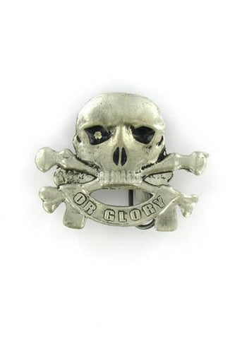 Belts & Buckles - Death Or Glory Skull & Crossbones Belt Buckle