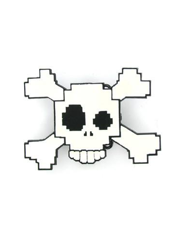 Belts & Buckles - Digital 8 Bit Skull & Crossbones Belt Buckle
