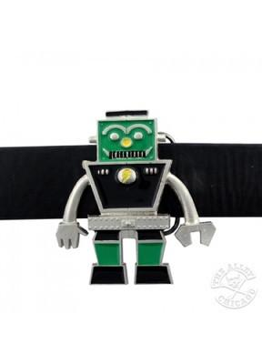 Belts & Buckles - Green & Black Retro Sci-fi Robot Belt Buckle