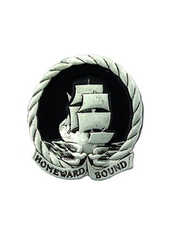Belts & Buckles - Homeward Bound Nautical Sailing Ship Belt Buckle