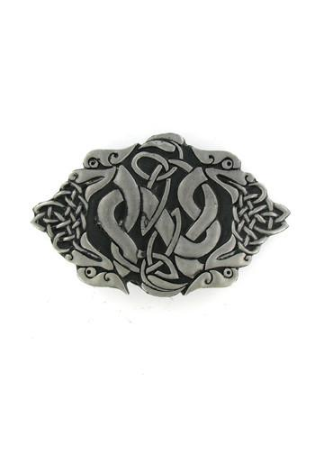 Belts & Buckles - Knotted Gaelic Snakes Belt Buckle