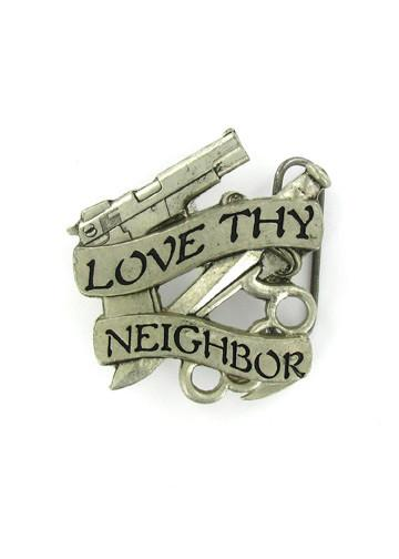 Belts & Buckles - Love Thy Neighbor Belt Buckle