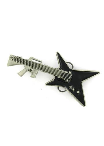 Belts & Buckles - Machine Gun Guitar Belt Buckle