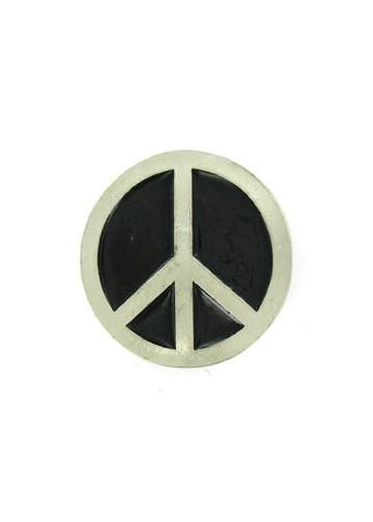 Belts & Buckles - Peace Sign Belt Buckle