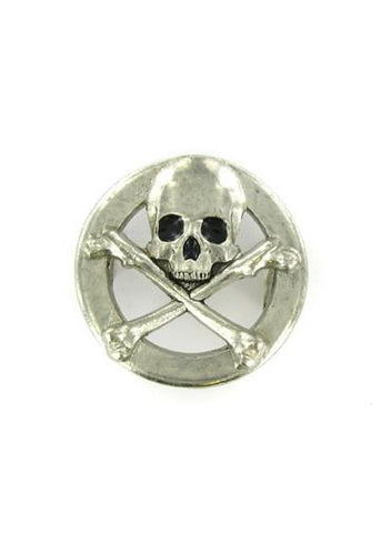 Belts & Buckles - Pirate Skull And Crossbones In Circle Belt Buckle