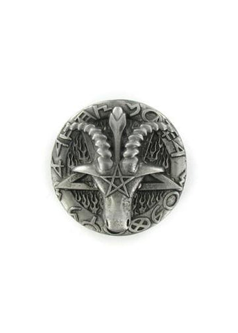 Belts & Buckles - Ram's Head Pentagram Belt Buckle