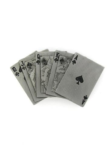 Belts & Buckles - Royal Flush Spades Belt Buckle