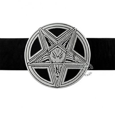 Belts & Buckles - Satanic Pentagram Belt Buckle