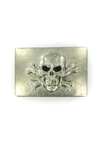 Belts & Buckles - Skull & Crossbones Rectangle Belt Buckle
