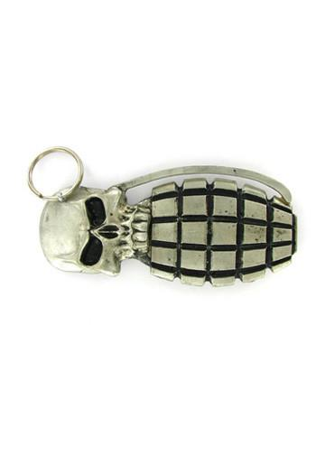 Belts & Buckles - Skull Hand Grenade Belt Buckle