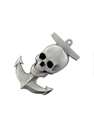 Belts & Buckles - Skull On A Boat Anchor Belt Buckle