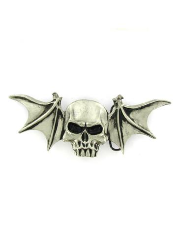 Belts & Buckles - Skull With Bat Wings Belt Buckle