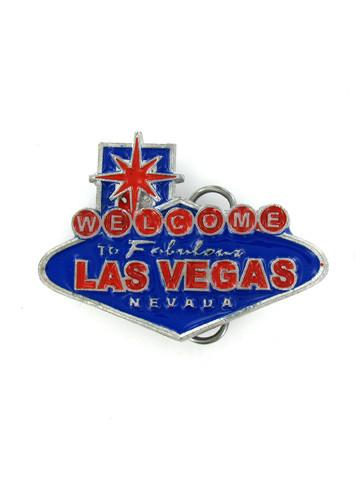 Belts & Buckles - Welcome To Las Vegas Blue Belt Buckle