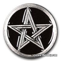 Belts & Buckles - Wiccan Pentacle Belt Buckle