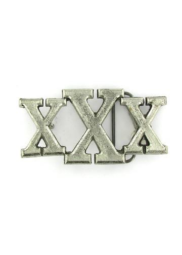 Belts & Buckles - XXX Straight Edge Belt Buckle