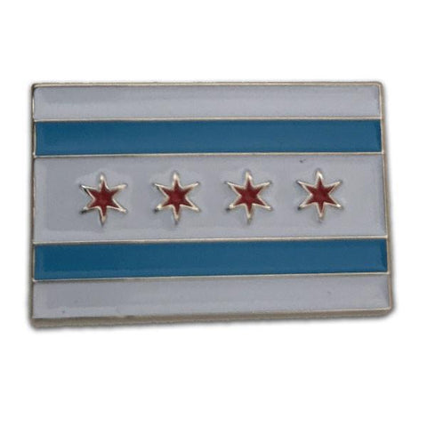 Classic Chicago Flag Pin