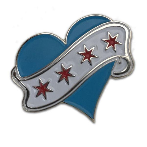 Chicago Love Flag Pin