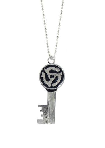 Jewelry - 45 Record Adapter Skeleton Key Necklace