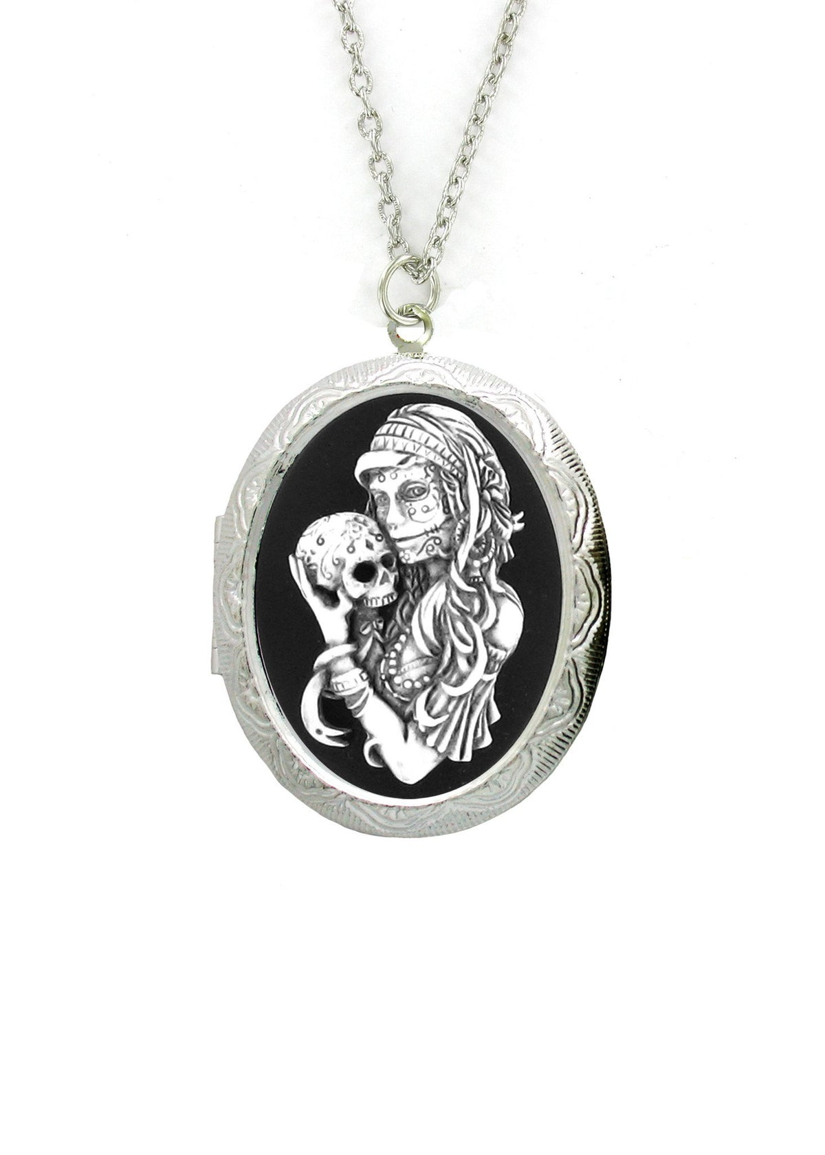 jewelry sugar dod pendant dp pewter color com skull necklaces amazon silver