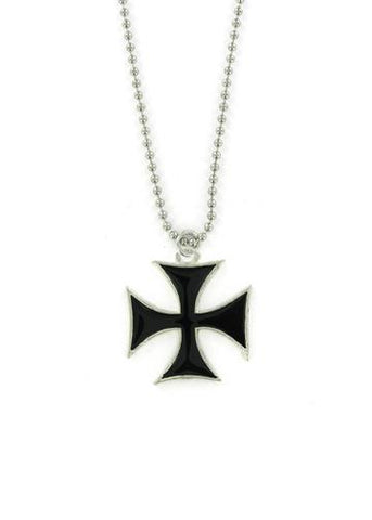 Jewelry - Black Iron Cross Ball Chain Necklace