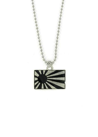Jewelry - Black Rising Sun Ball Chain Necklace