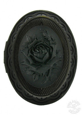 Jewelry - Black Rose Cameo Locket Ring