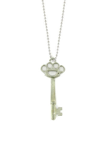 Jewelry - Brass Knuckles Skeleton Key Necklace