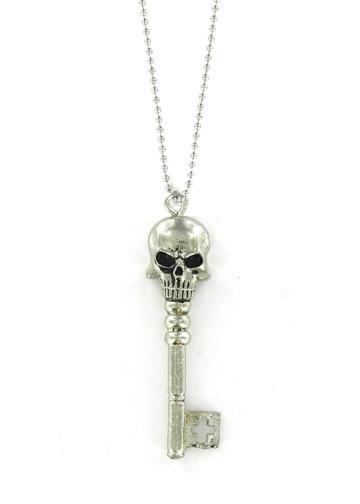 Jewelry - Death's Head Skeleton Key Necklace