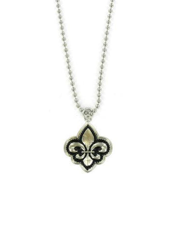 Jewelry - Fleur De Lis Ball Chain Necklace