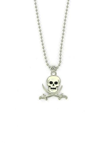 Jewelry - Jolly Roger - Pirate Skull And Swords Ball Chain Necklace