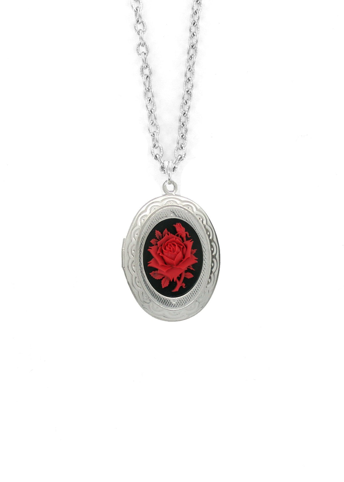 Jewelry - Mini Red Rose Cameo Locket
