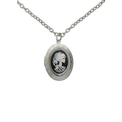 Jewelry - Mini White Zombie Cameo Locket