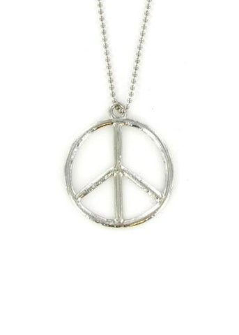 Jewelry - Peace Sign Vintage Style Ball Chain Necklace