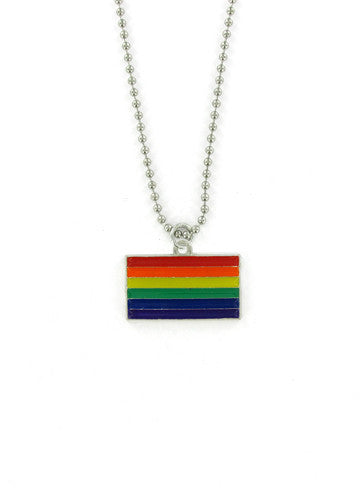 Jewelry - Rainbow Pride Flag Ball Chain Necklace