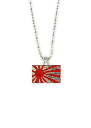 Jewelry - Red Rising Sun Ball Chain Necklace
