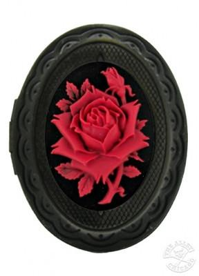 Jewelry - Red Rose Cameo Locket Ring