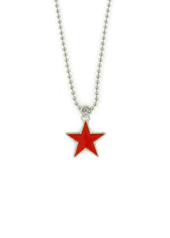 Jewelry - Red Star Ball Chain Necklace