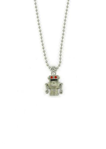 Jewelry - Retro Red Eye Robot Chain Necklace