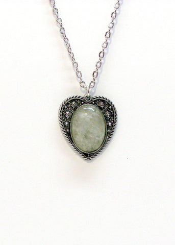 Jewelry - Rose Crystal Heart Necklace