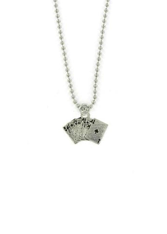 Jewelry - Royal Flush Ball Chain Necklace