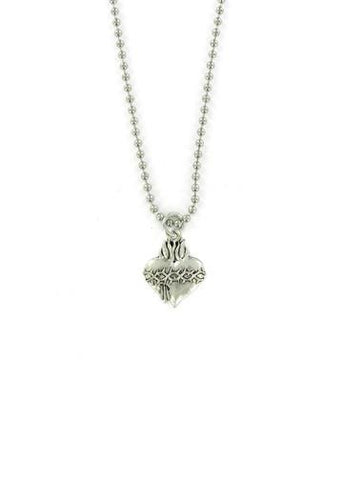 Jewelry - Sacred Heart Ball Chain Necklace