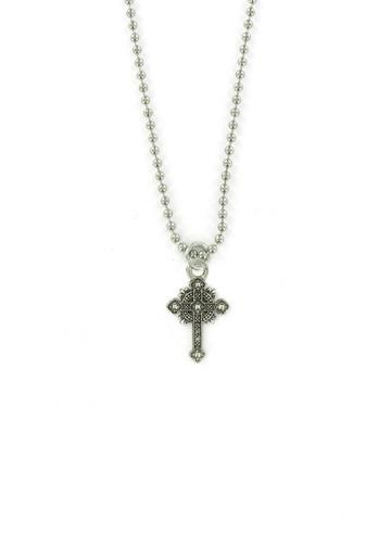 Jewelry - Small Gothic Cross Ball Chain Necklace