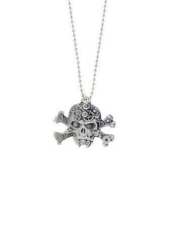 Jewelry - Steampunk Vampire Skull & Crossbones Ball Chain Necklace