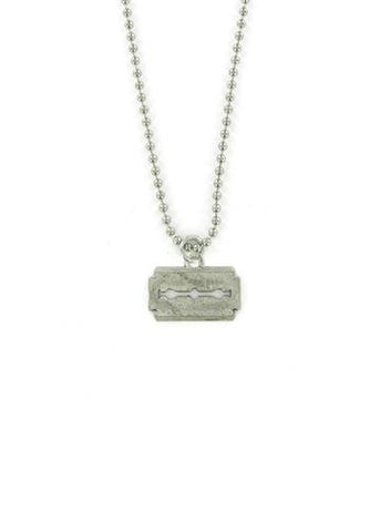 Jewelry - Straight Edge Razor Blade Ball Chain Necklace