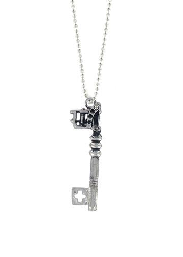 Jewelry - Tattoo Gun Skeleton Key Necklace