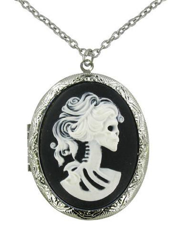 Jewelry - White Zombie Bride Cameo Locket