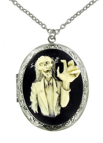 Jewelry - Zombie Grab Cameo Locket Pendant