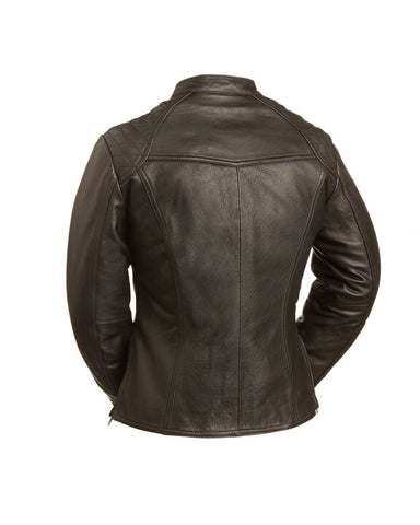 Leather Jackets - The Feminita Womens Leather Motorcycle Jacket | The Alley