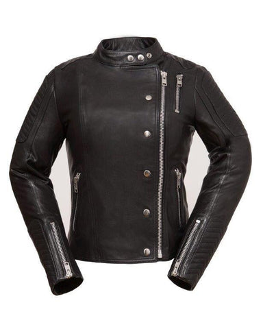 Leather Jackets - The Femme Fatale Womens Leather Motorcycle Jacket | The Alley
