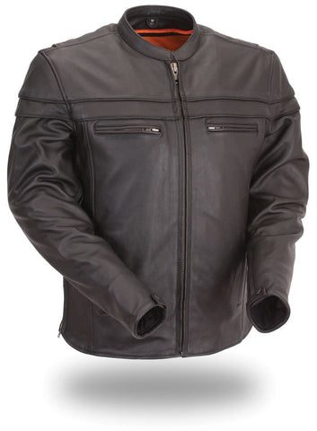 Leather Jackets - The Lucky Leather Motorcycle Jacket | The Alley